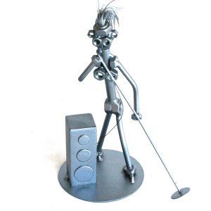Fém csavar szobor ajándék énekesnek, énekesnőnek