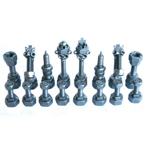 Fém csavar szobor ajándék sakk-készlet ajándékba 1