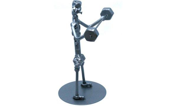 Egyedi fém csavar szobor ajándék súlyemelőnek