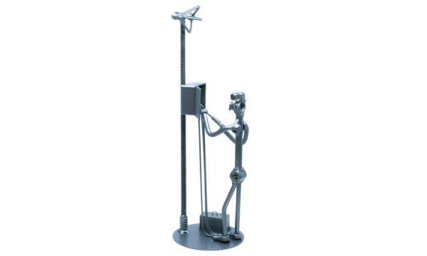 Fém csavar szobor ajándék villanyszerelőnek