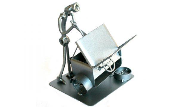 Egyedi fém csavar szobor ajándék autószerelőnek