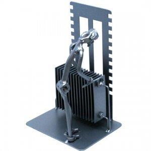 Különleges fém csavar szobor ajándék fűtés szerelőnek