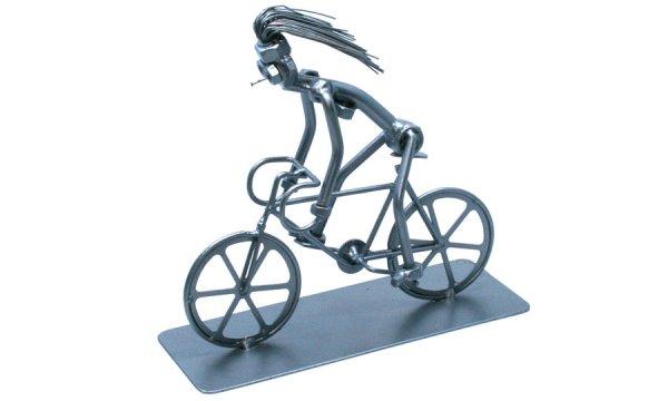 Bolondos fém csavar szobor ajándék bicikliseknek